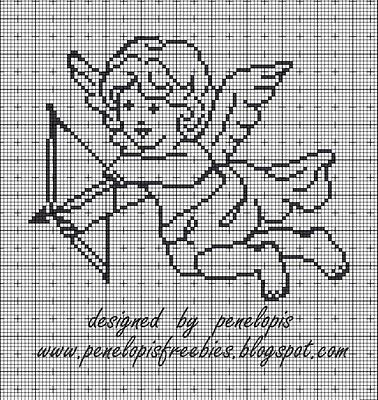 Penelopis 'kruissteek freebies: angel / angel