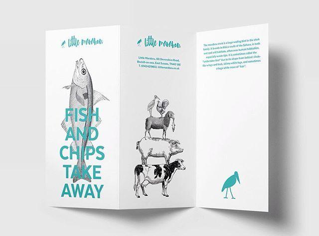 Menu design for Little Marabou — a fish and chips restaurant in Bexhill on Sea, United Kingdom.  #logo #logos #symbol #mark #branding #brandsymbol #minimal #minimalism #logodesigner #logosai #graphicgang #logoinspirations #logoinspiration #thedesigntip #designinspiration #graphicdesign #graphicdesigner #littlemarabou #marabou #animallogo #bird #design #designstudio #restaurant #restaurantlogo #fishandchips #corporatedesign