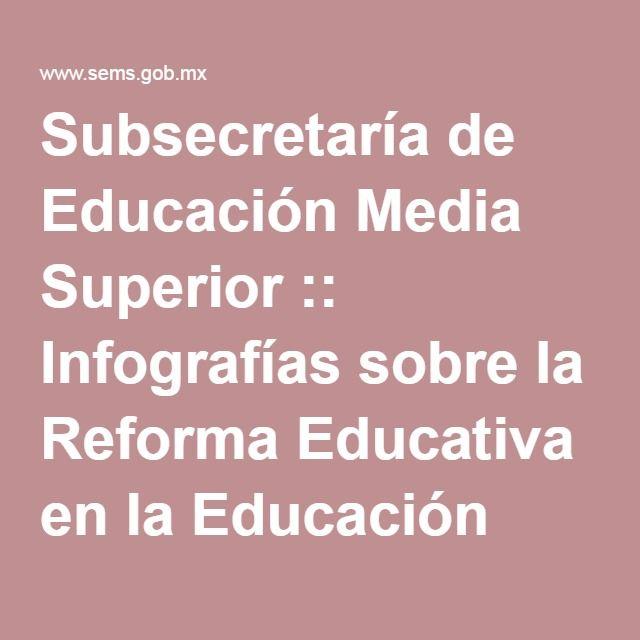 Subsecretaría de Educación Media Superior :: Infografías sobre la Reforma Educativa en la Educación Media Superior