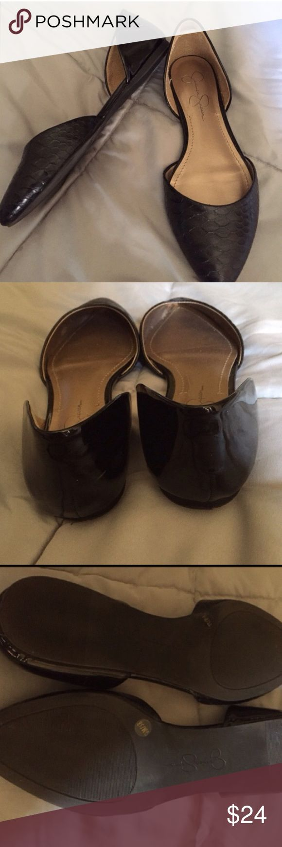 Jessica Simpson flats Worn once.  Great condition as pictured. Jessica Simpson Shoes Flats & Loafers