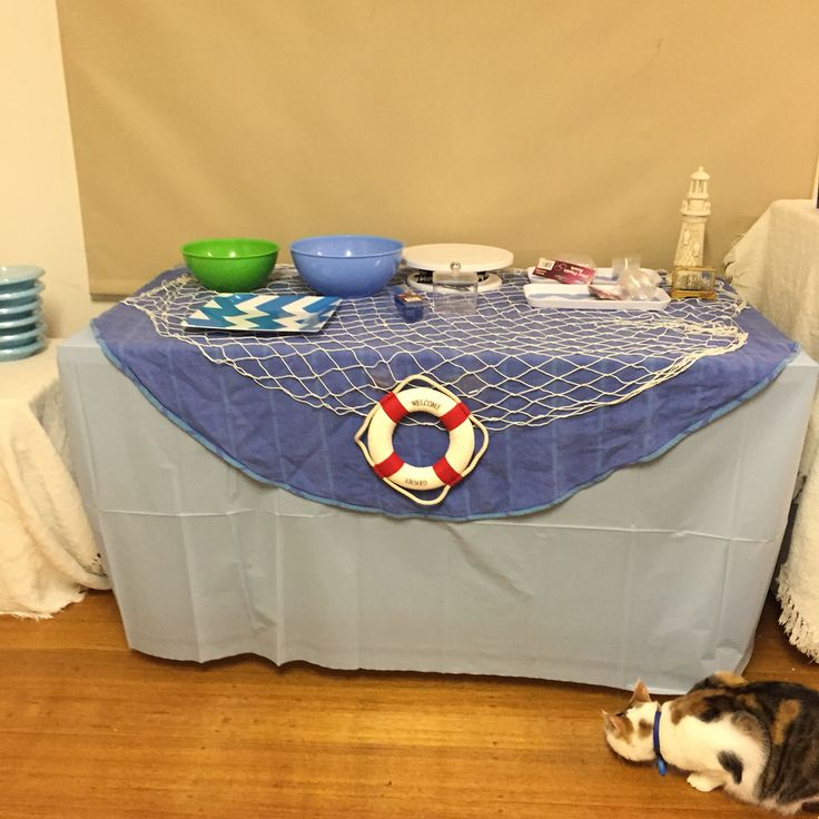 Photos nautical under the sea balloons decor food table party pirate ship