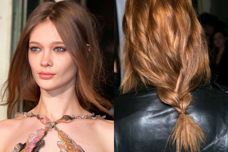 Love this Almost Braid to leave a romantic windblown look in the front and a little braided knot in the back! -Braids and Twists