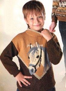 Пуловер с рисунком Лошадка
