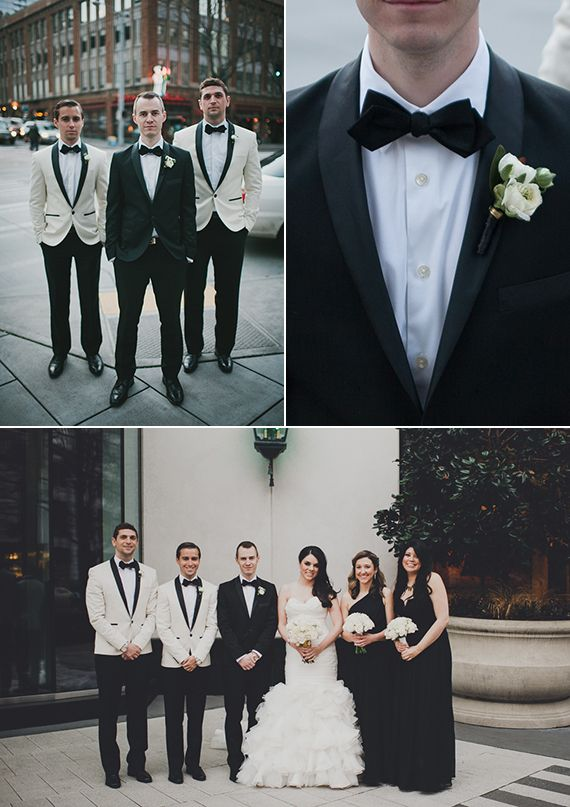 Minted Real Wedding Julia Deric In Seattle White Tuxedo Jacket Weddings And Groom Style