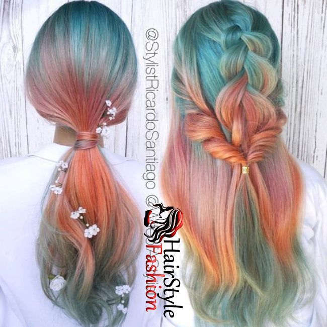 81 Most Gorgeous Mermaid Hairstyle Design And Hair Color For Prom And Halloween Party Hair Styles Cool Hairstyles Hair Highlights