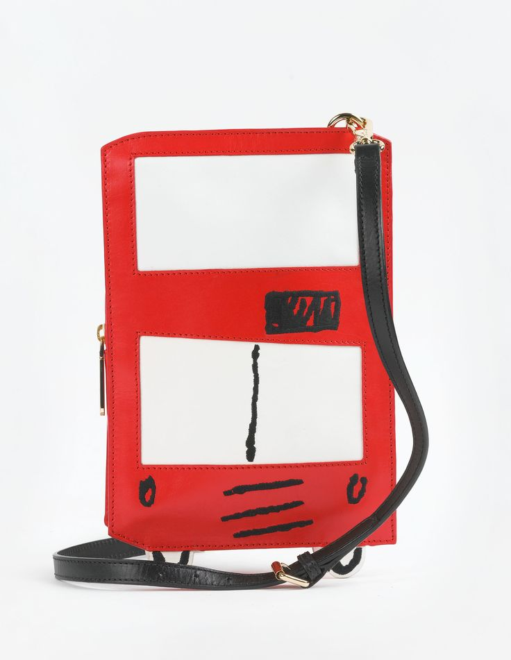 Boden London Bag. Choose your favourite transportation, Red Bus or Black Taxi. In appliqué leather, the London Bag will make for a fun addition to your wardrobe.
