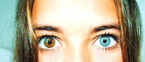 two different colored eyes on a girl..crazy