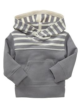 Striped terry hoodie | Gap    Baby Dos is gunna be a hipster
