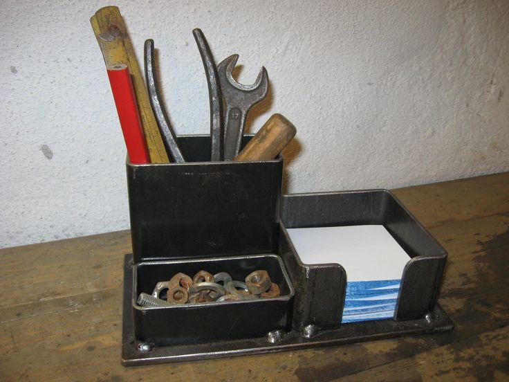 Industrial Steel Pencil Organizer; $20