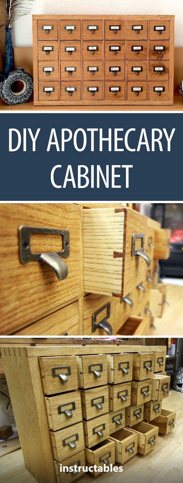 DIY Apothecary Cabinet  #woodworking #storage #organization