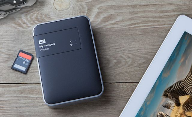 Western Digital announces on-location hard drive: 1 or 2 TB of storage, can be loaded to directly from SD cards.