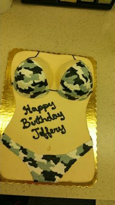 Camo Bikini Cake