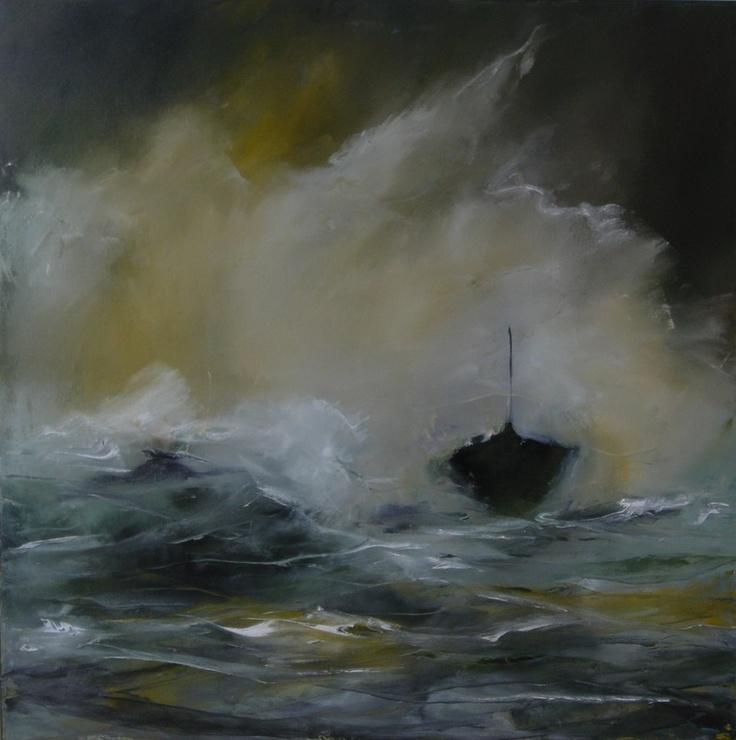 """Saatchi Online Artist: Hrafnhildur Inga Sigurdardottir; Oil, Painting """"Rough"""""""