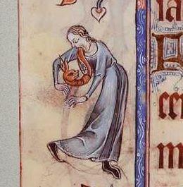 A man vomiting a fox