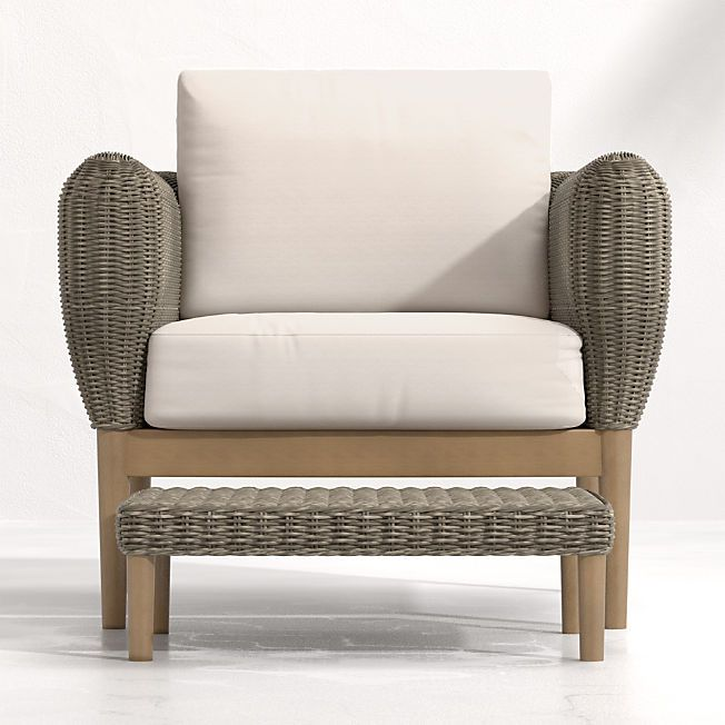 lounge chair outdoor wicker lounge