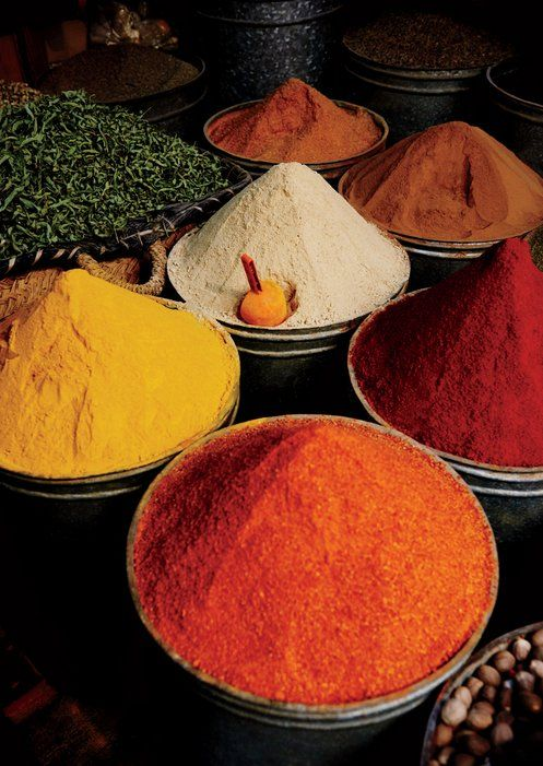 At the medina's souk, Odell picked up spices and mint to take home to his native Stockholm.