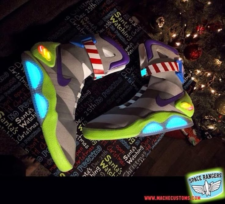 Here is a wild pair of Nike Air Mag Buzz Light Year Toy Story Custom Sneaker , what do you all think of these right here? Peep more image...