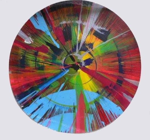 Damien Hirst - Spin Paintings