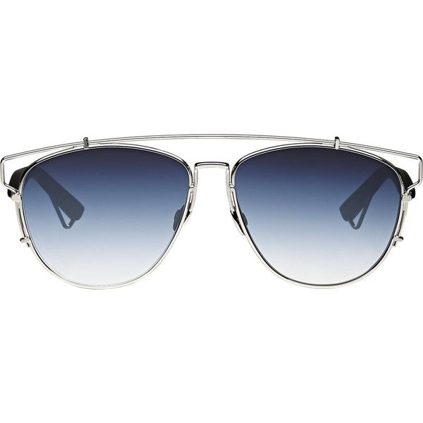 "Dior Women's ""Dior Technologic"" Sunglasses ($560) ❤ liked on Polyvore featuring accessories, eyewear, sunglasses, glasses, sunnies, black, mirror glasses, mirrored aviator sunglasses, mirror aviator glasses and aviator style sunglasses"