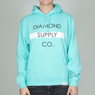 Diamond Supply women's Hoodie Turquoise at Boathousestores.com