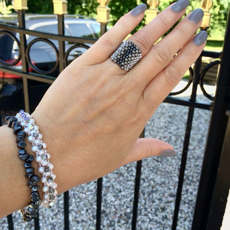 🆕 Bracelets & ring 🌹custom made 🐝Jewelry artist Tove Hegge ⬇️ www.stopandwearjewelry.com