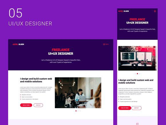 Aksel Website Theme For Freelancers Website Themes Web Design Website Template Design