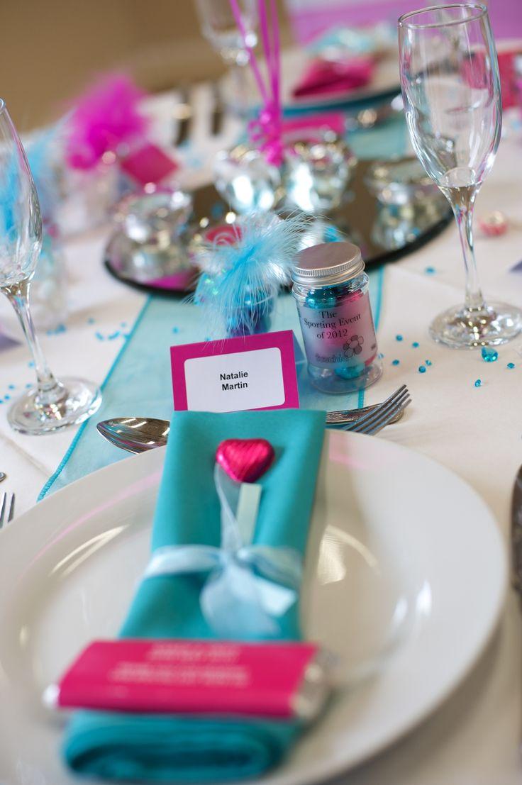 Turquoise and Fuschia Wedding Theme | Make a splash with this seasons key trends | fuschiadesigns