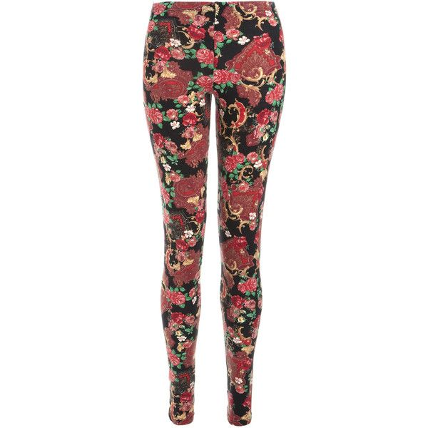 Accessorize Scarf Paisley Printed Leggings ($19) ❤ liked on Polyvore featuring pants, leggings, bottoms, jeans, calças, legging pants, patterned pants, paisley leggings, red leggings and print leggings
