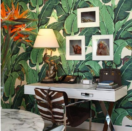 "The Iconic Original Martinique Wallpaper - Beverly Hills  [BH90210 - Martinique ""A"" Beverly Hills Wallpaper] BH Hotel & Tropical Prints 
