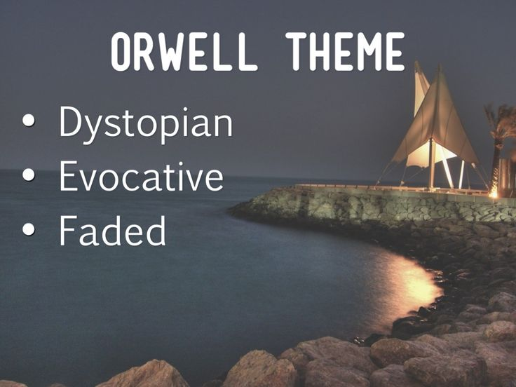 A sample bulleted list created with Haiku Deck in the Orwell Theme