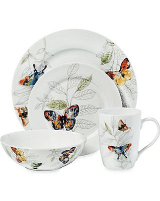 Mikasa® Garden Butterfly 16-Piece Dinnerware Set