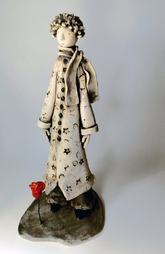 Le Petit Prince Saint Alban : petit, prince, saint, alban, Little, Prince, Petit, Ceramic, Sculpture, Angels, Sculpture,, Pottery