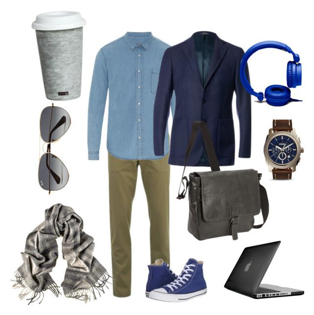 """""""Casual mood"""" by antonella-ienna on Polyvore featuring moda, Lacoste, AMI, Converse, Al Duca d'Aosta, Ray-Ban, Speck, Kenneth Cole Reaction, Forever 21 e FOSSIL"""