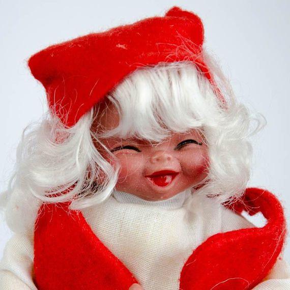 Scandinavian Christmas Elf Girl   Norwegian Swedish Nisse