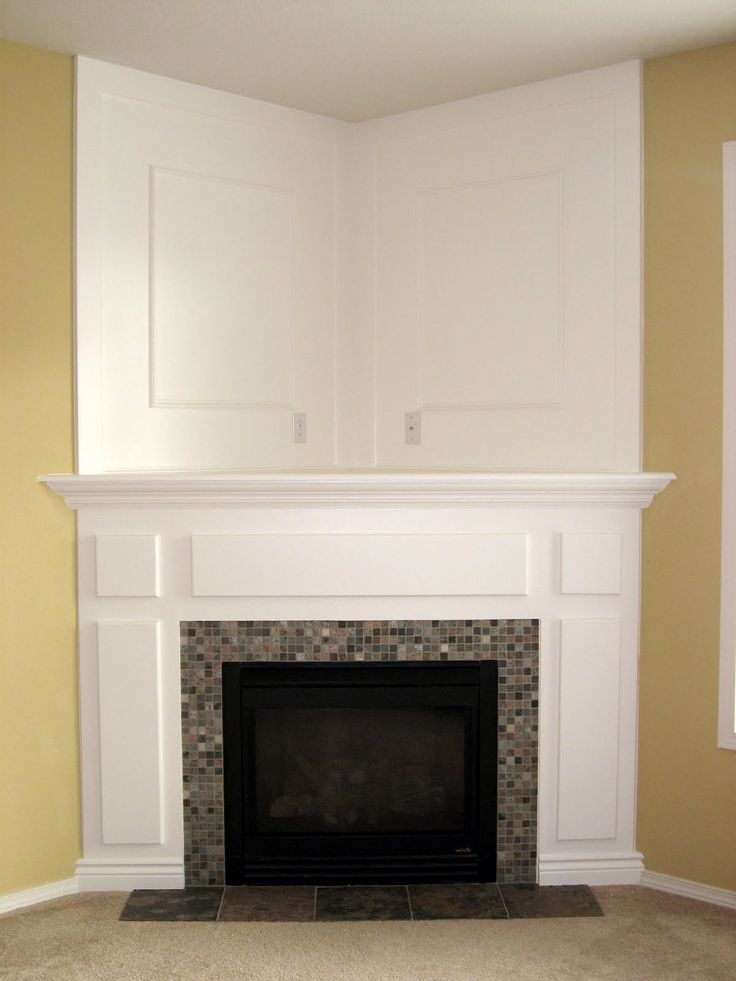 If our home doesn 39 t have a fireplace we can always buy a for Building a corner fireplace