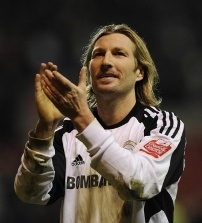 Robbie Savage in his playing days at Derby County