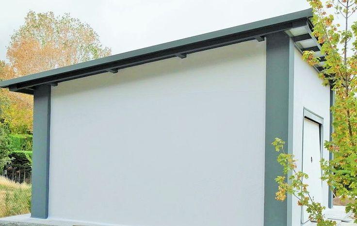 Garage de hormigon prefabricado acabado liso y esquinas for Casas en garajes