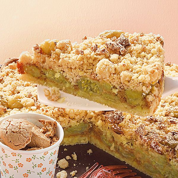Stachelbeer-Krümelkuchen