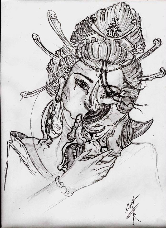 geisha mascara de demonio japones oni tatto tatuaje