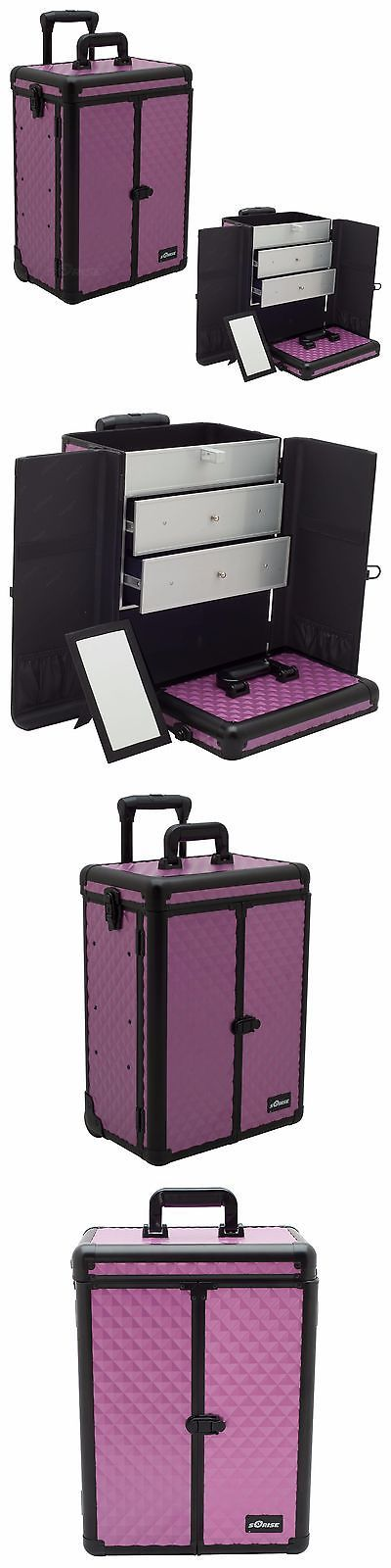 Rolling Makeup Cases: Makeup Storage Box Train Make Up Cosmetic Luggage Organizer Rolling Beauty Case BUY IT NOW ONLY: $149.95