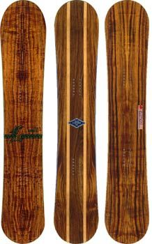 Love the wood grain showing through -- Arbor Snowboards
