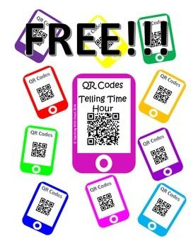 FREE!!! QR Telling Time - Hour Intervals   Teachers Pay Techers   Pin ...