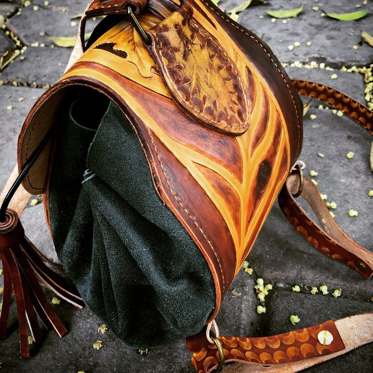150$  Lilys Backpack with Hand Carving on Italia Vegtan Leather. Bloomingkraft _ Ha Noi _ Viet Nam