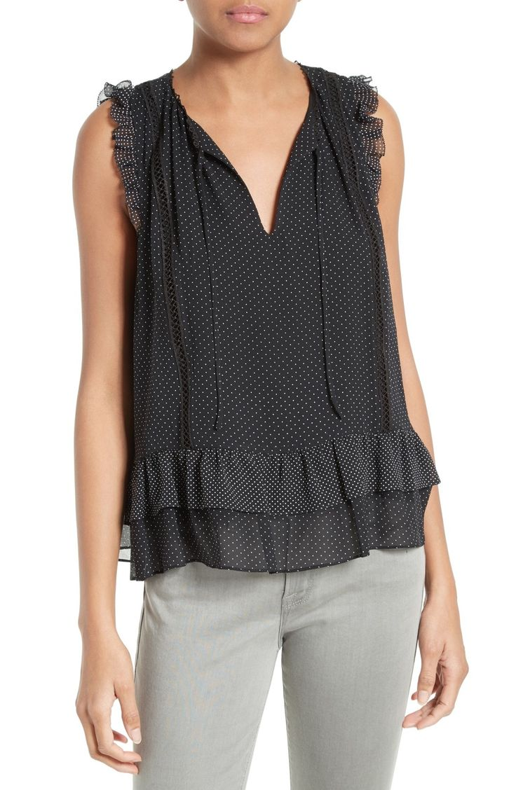 Joie Cici Polka Dot Silk Top available at #Nordstrom