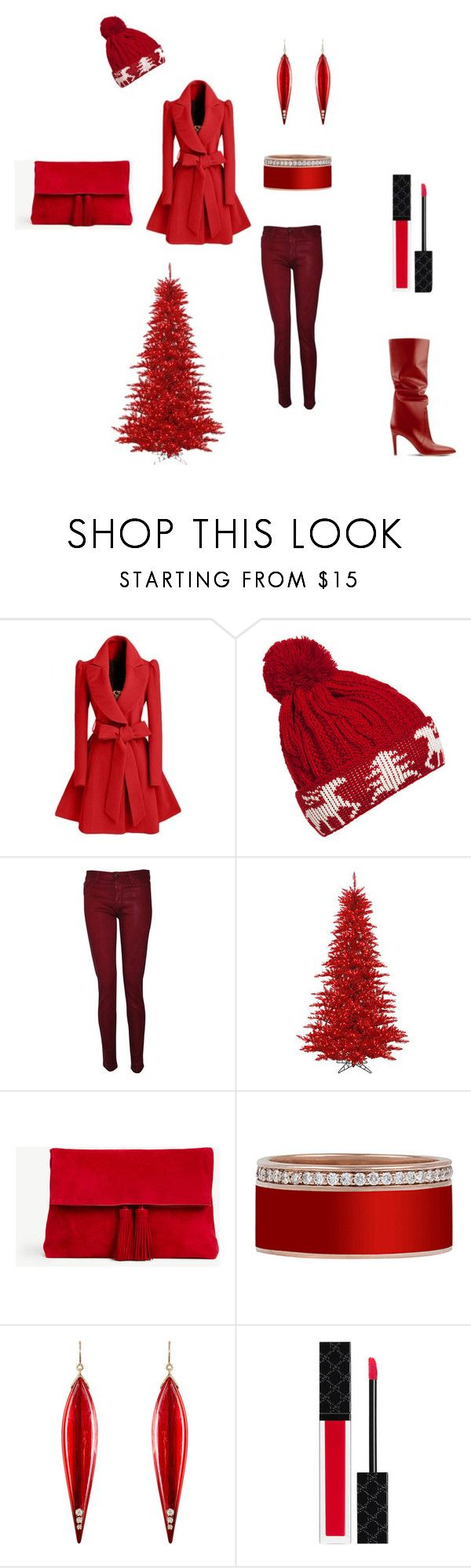 Winter Best Collection by clippingpathfaster on Polyvore featuring WithChic, Hudson, Ann Taylor, Mark Davis and Gucci
