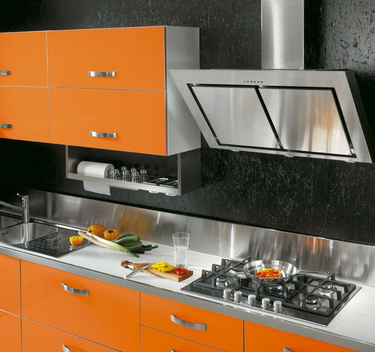 #Cucina MIX: #innovativa e #tecnologica! #arancione #arredamento #casa www.cucinesse.it/cucine/mix/