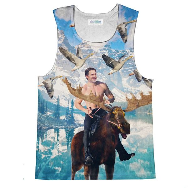 Moosin' Trudeau Loose Tank Top – Shelfies - Outrageous Clothing Size medium