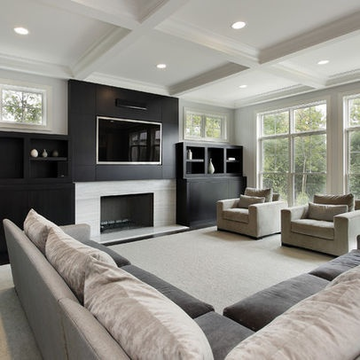 contemporary family room design