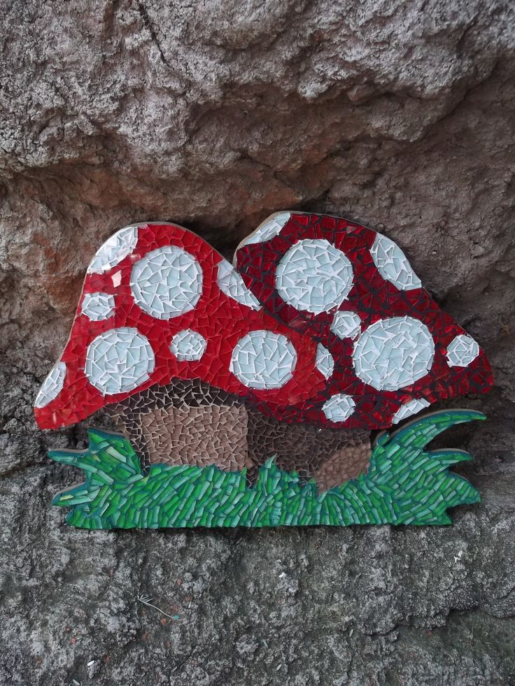 """Mosaic mushrooms by Craft at Fourways """"One of a Kind"""""""