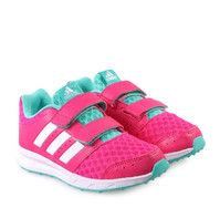 ADIDAS SPORT 2.0 Girly Running Pink Sneakers with Scratches. Παιδικά κοριτσίστικα ροζ αθλητικά παπούτσια με αυτοκόλλητα.